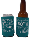 50th Birthday party favors can coolers