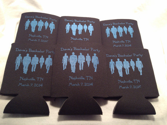 Bachelor Party Koozies 5 guys