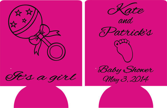 It's a Girl Baby Shower favors Can Coolers
