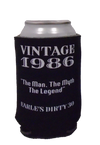 Dirty Thirty 30th Birthday Koozies Vintage customizable can coolers