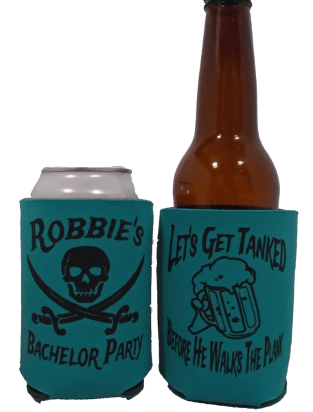 Pirate Bachelor koozie lets get tanked before he walks the plank