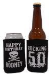 Rocking 50th Pirate Birthday Koozie can coolers