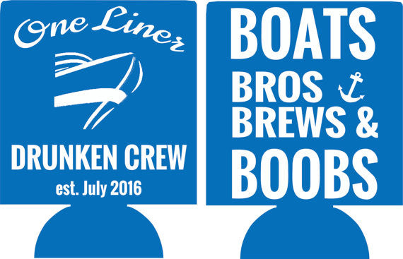 Boats Bros and Brews Bachelor Party koozies