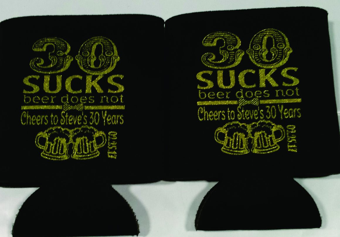 30 sucks Koozie