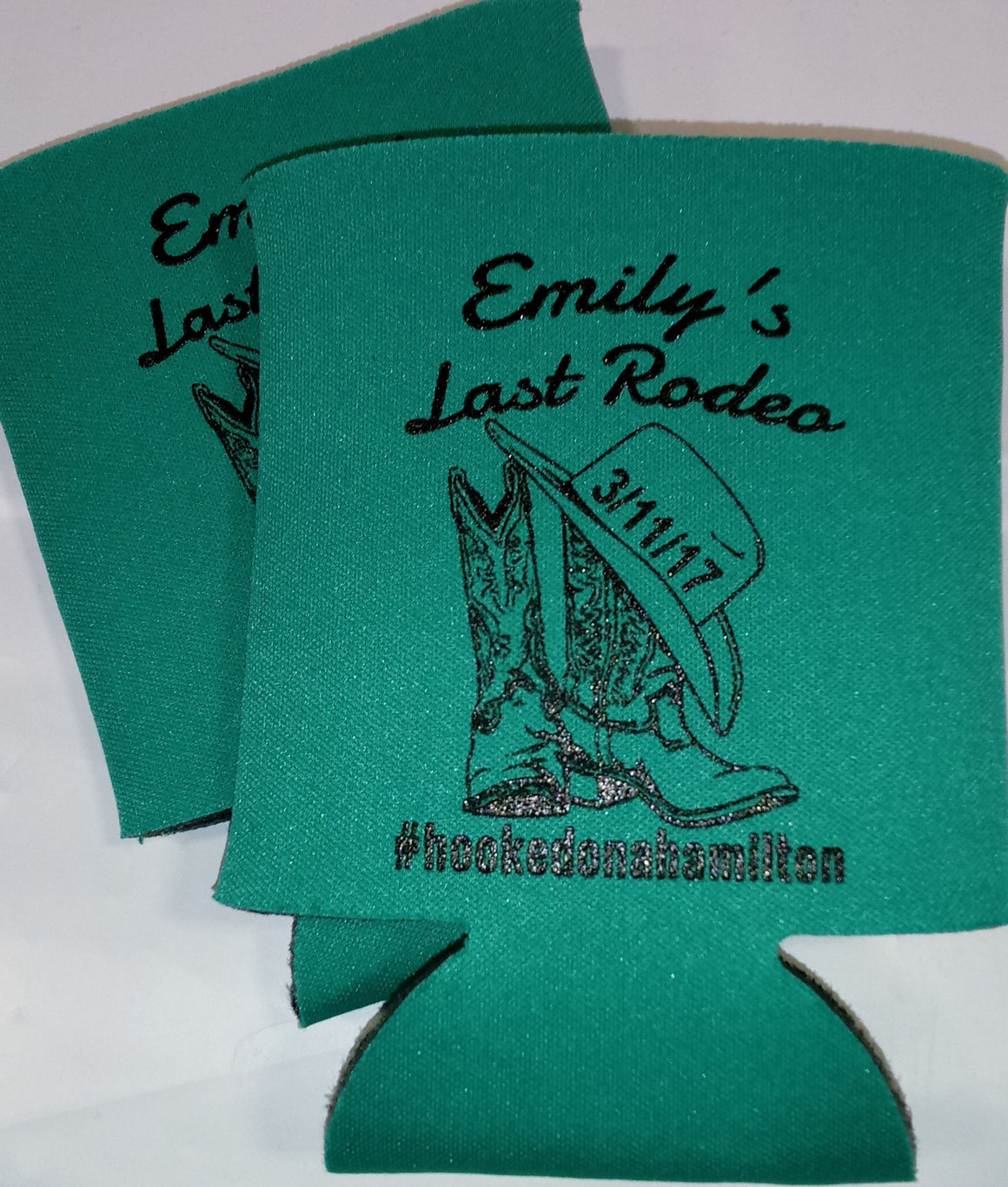 Last Rodeo Koozie Bachelorette boots clipart custom text