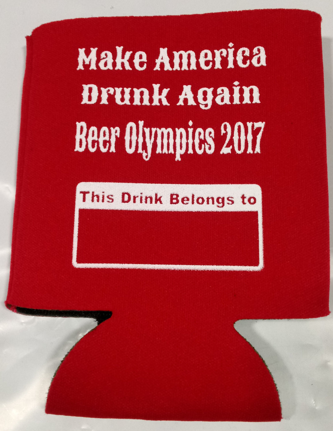 Beer Olympics koozies make america drunk funny favors can holders