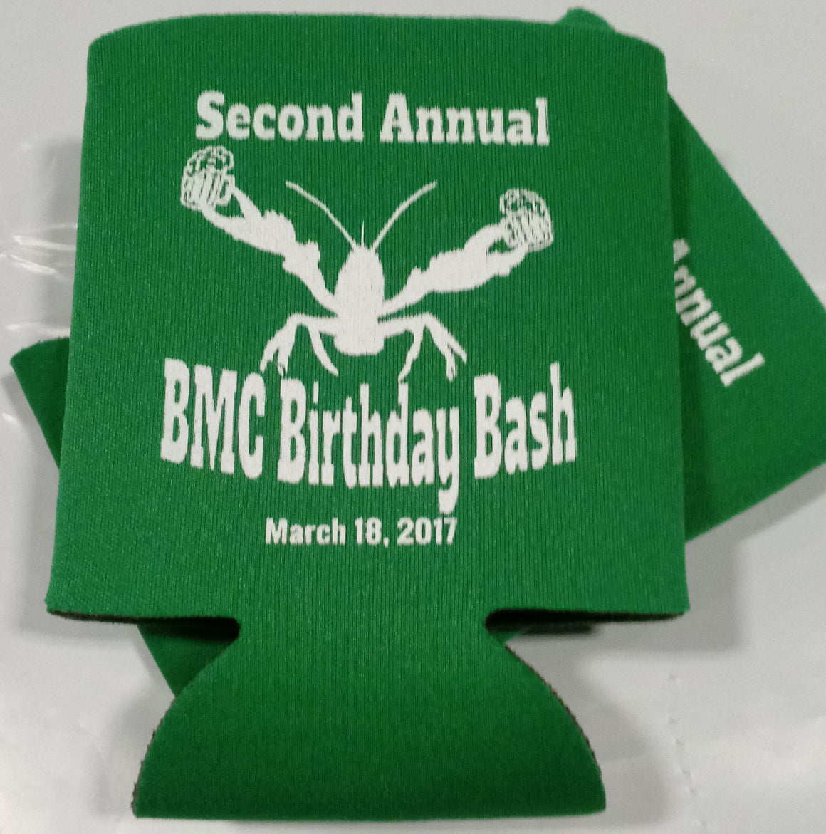 crawfish Birthday bash koozie can coolers