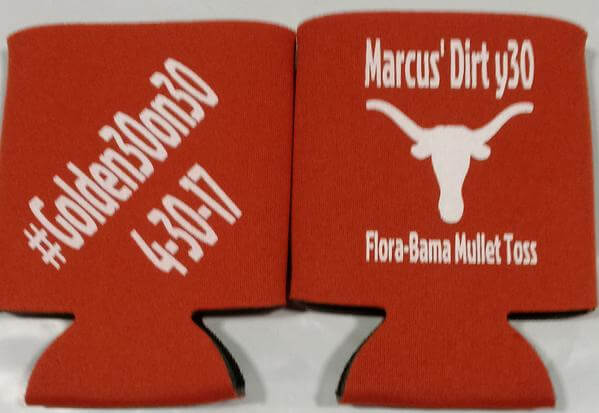 Texas 30th Birthday koozie dirty 30 can coolers