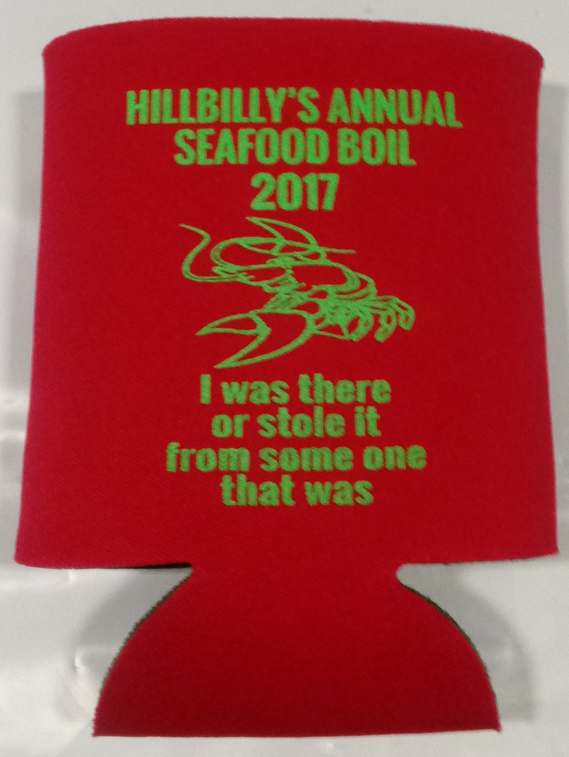 custom personalized crawfish boil koozie can coolers