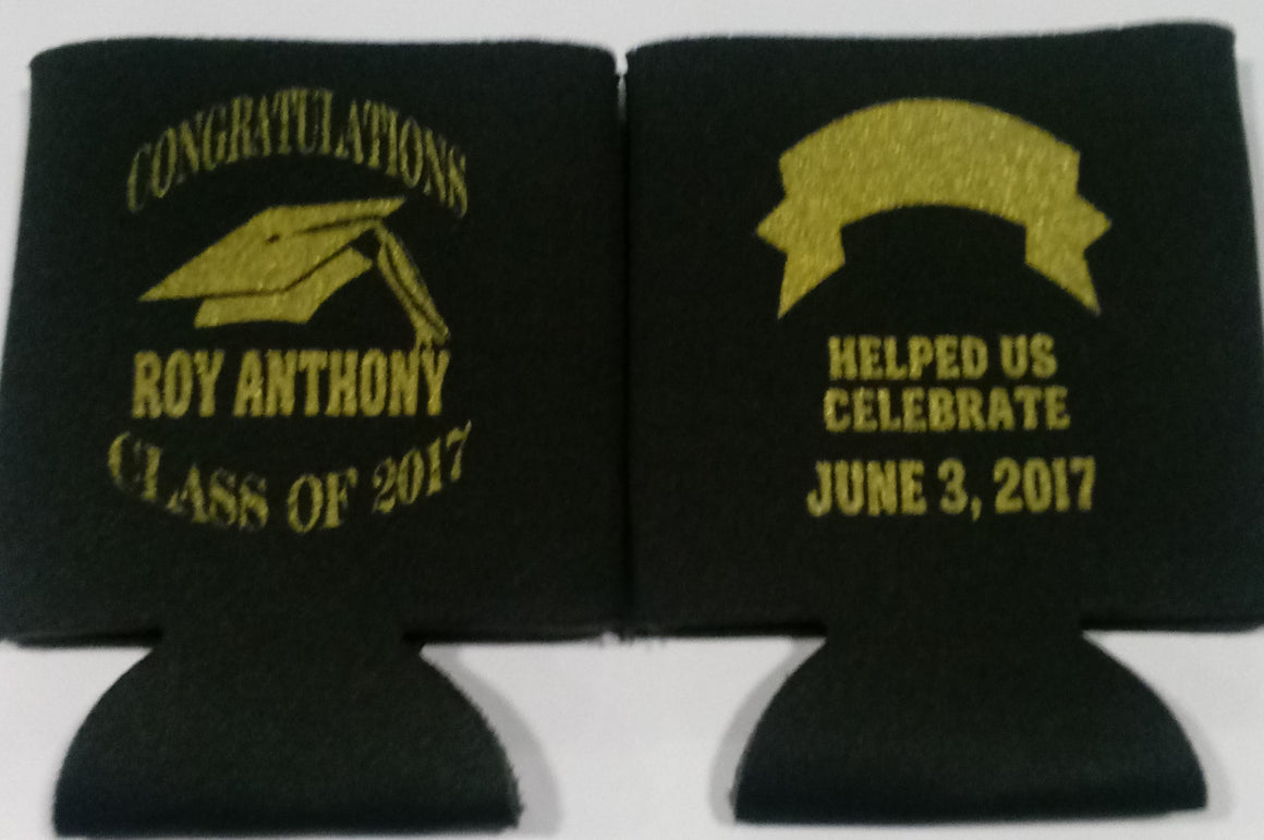 Helped us celebrate graduation koozie class of 2017 can coolers personalized