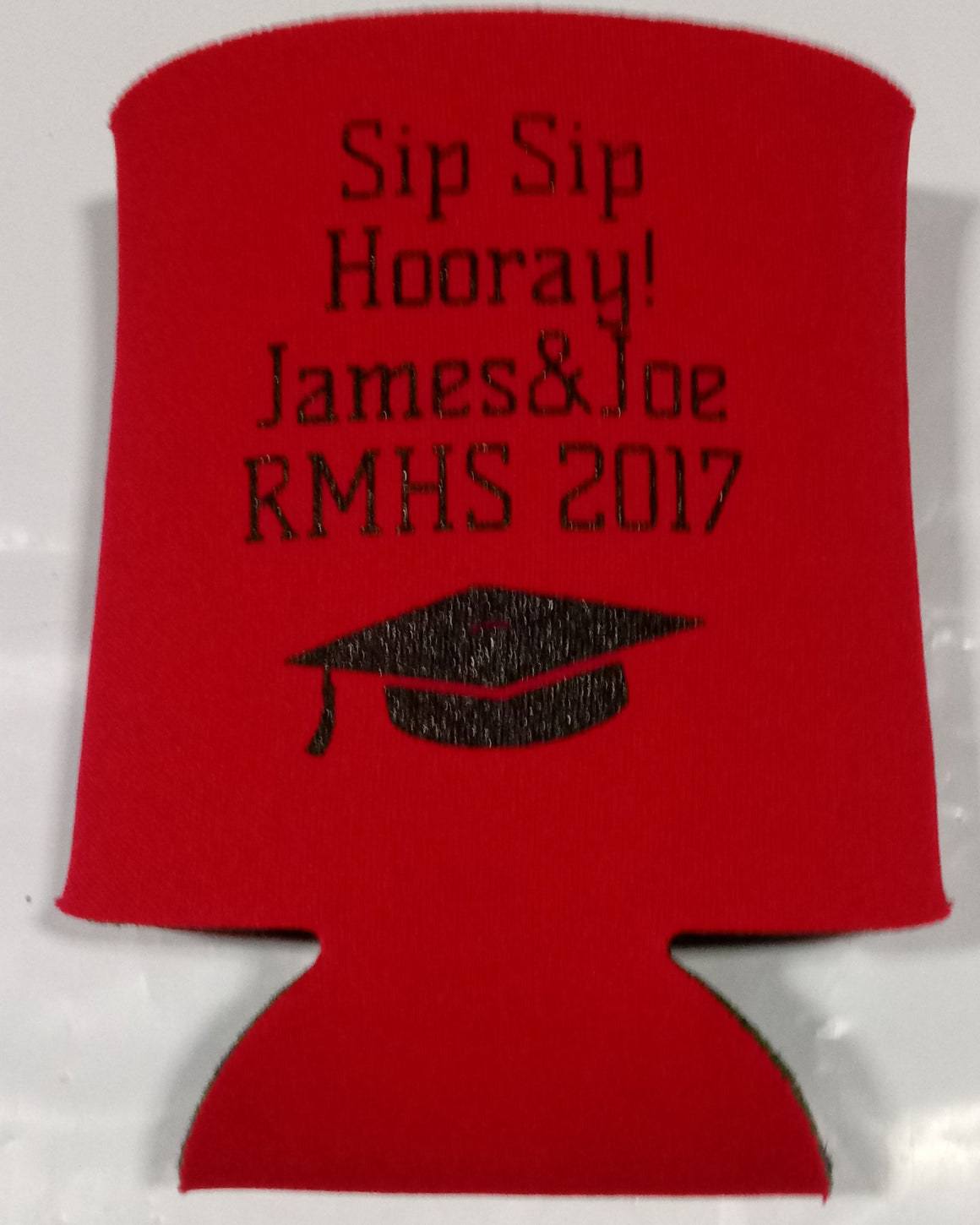 High School graduation koozie funny sip sip hooray
