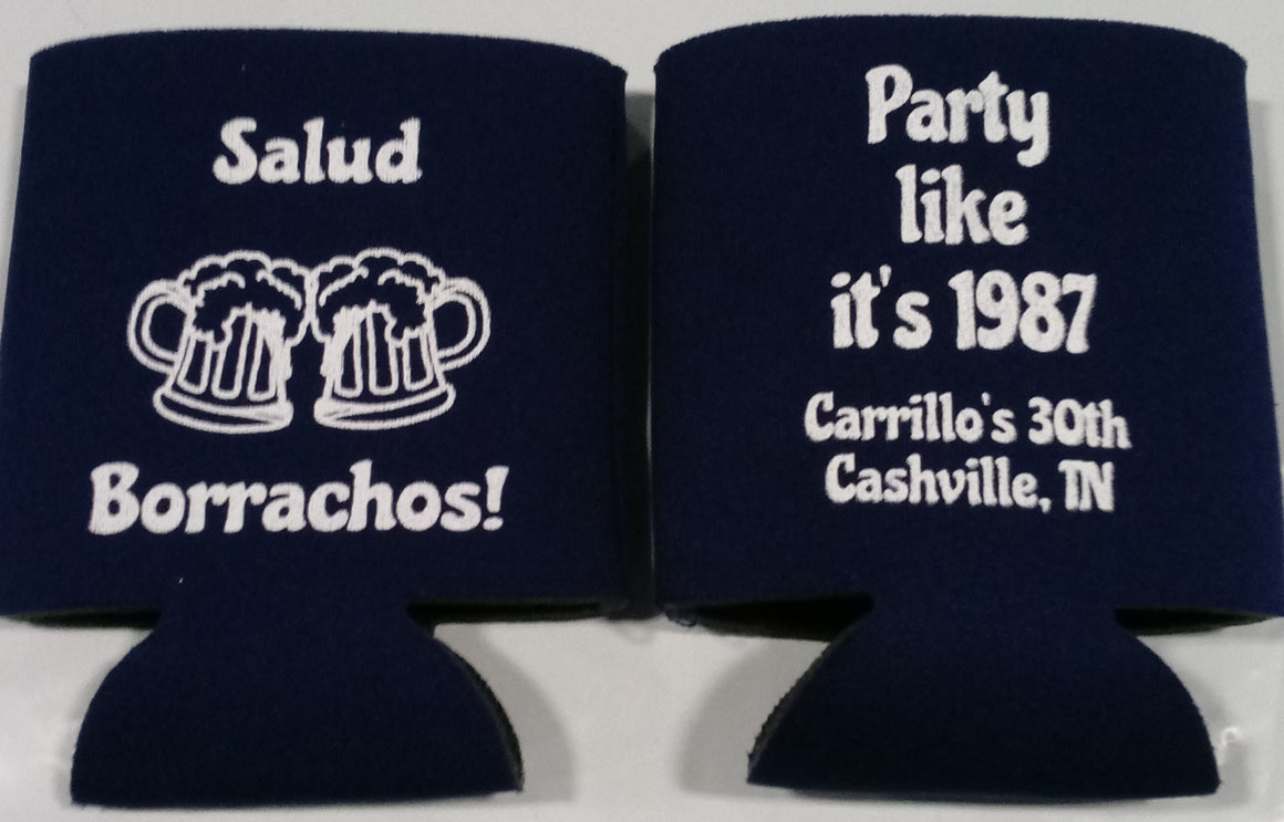 party like 1987 30th Birthday koozie can coolers
