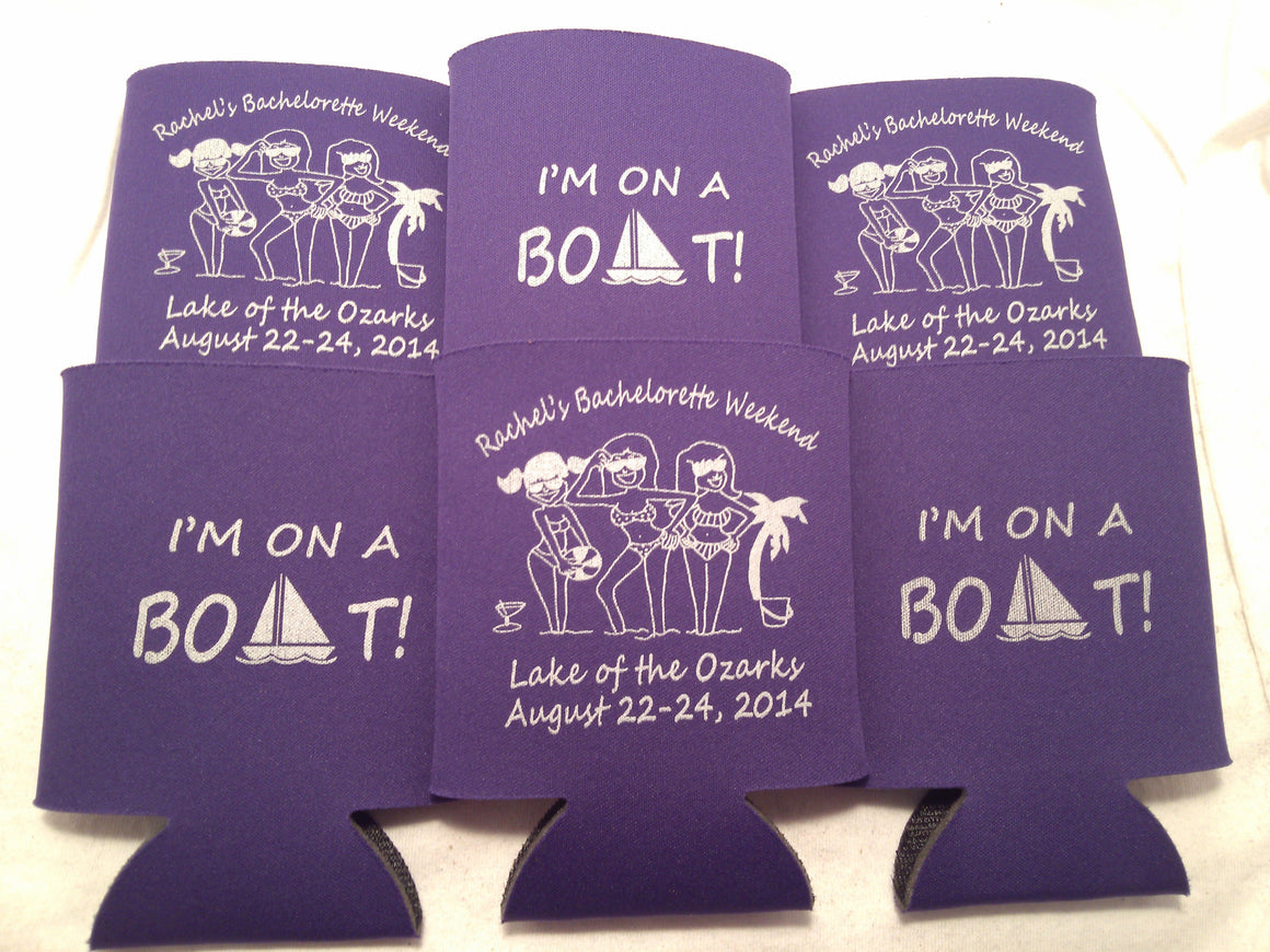 i'm on a boat bachelorette weekend custom location personalized