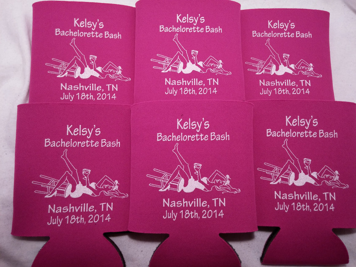 Bachelorette Bash Koozies Party custom favors