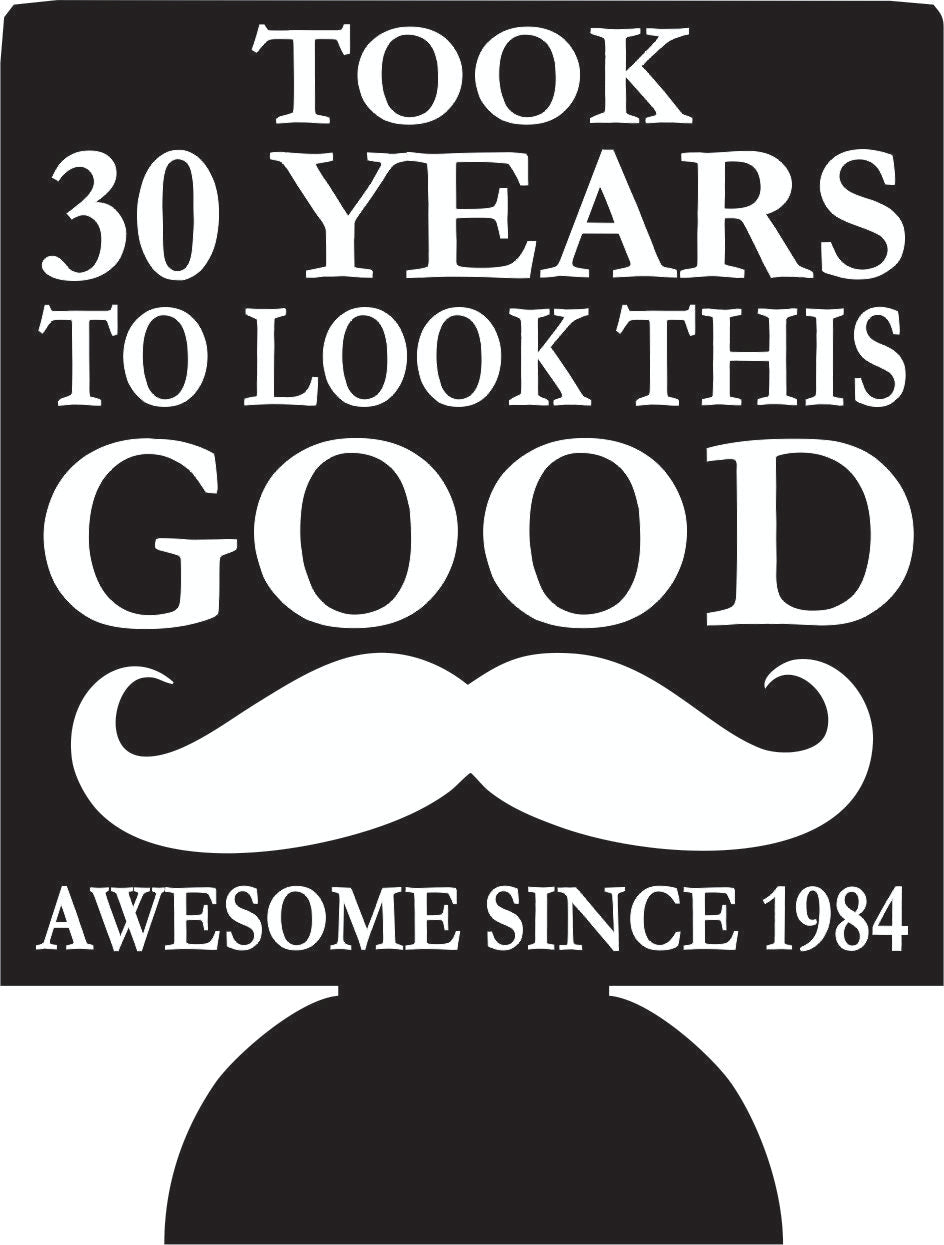 30th mustache Birthday koozies can coolers 163840612 double sided