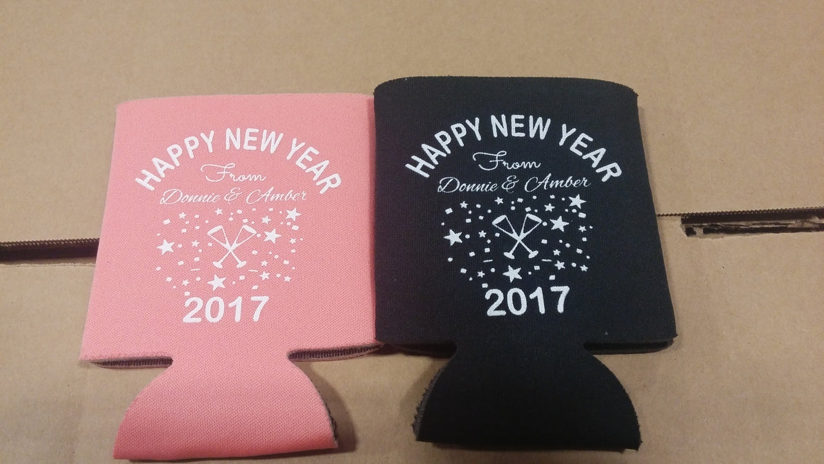 2017 New Years Eve party favors can coolers E11302016