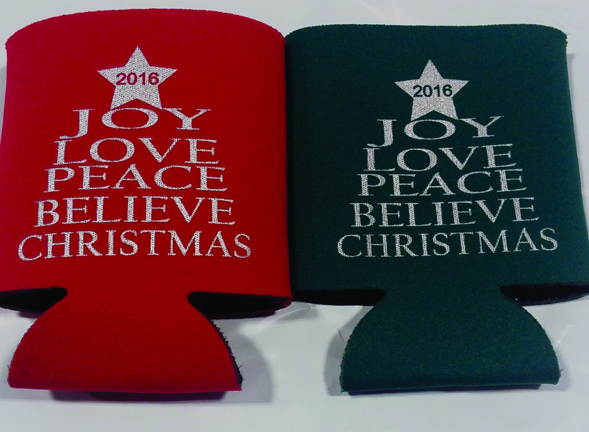 Christmas Koozies party favors can coolers E12102016