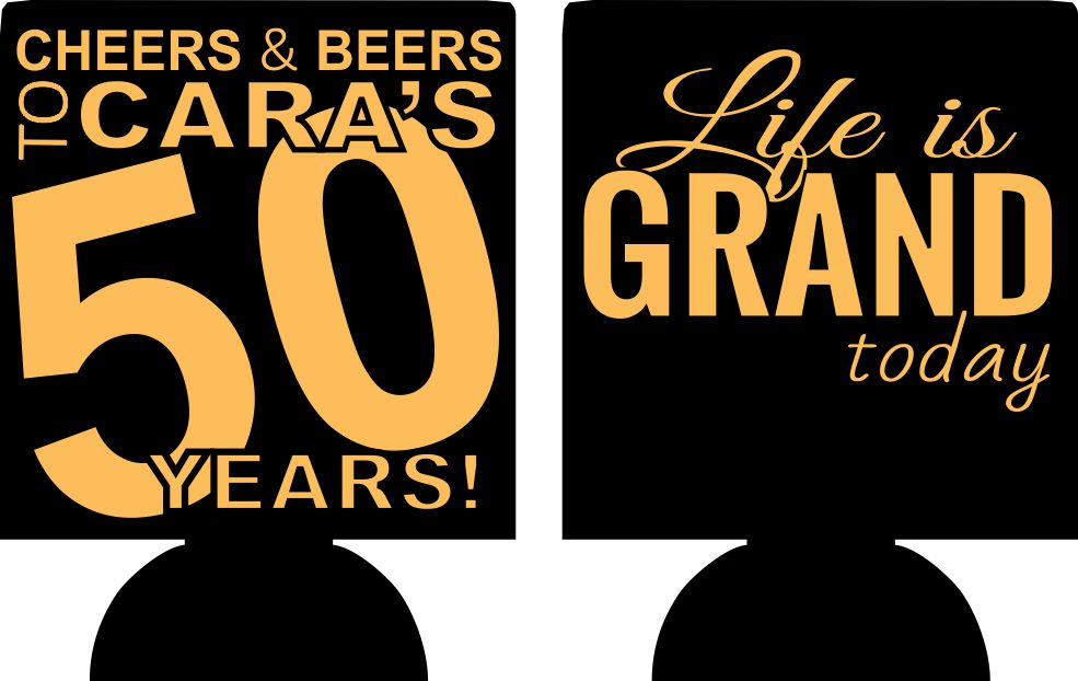 50th birthday party favors koozie sayings can coolers ideas