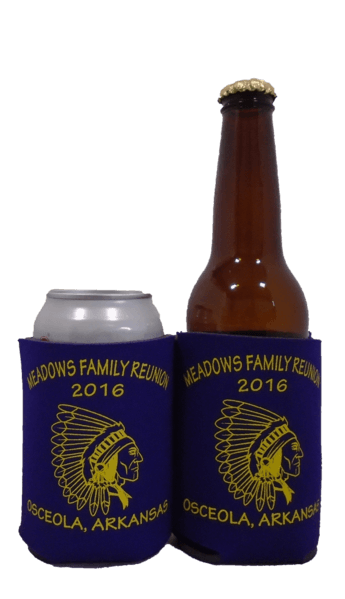 Custom Family Reunion Koozie can coolers personalized
