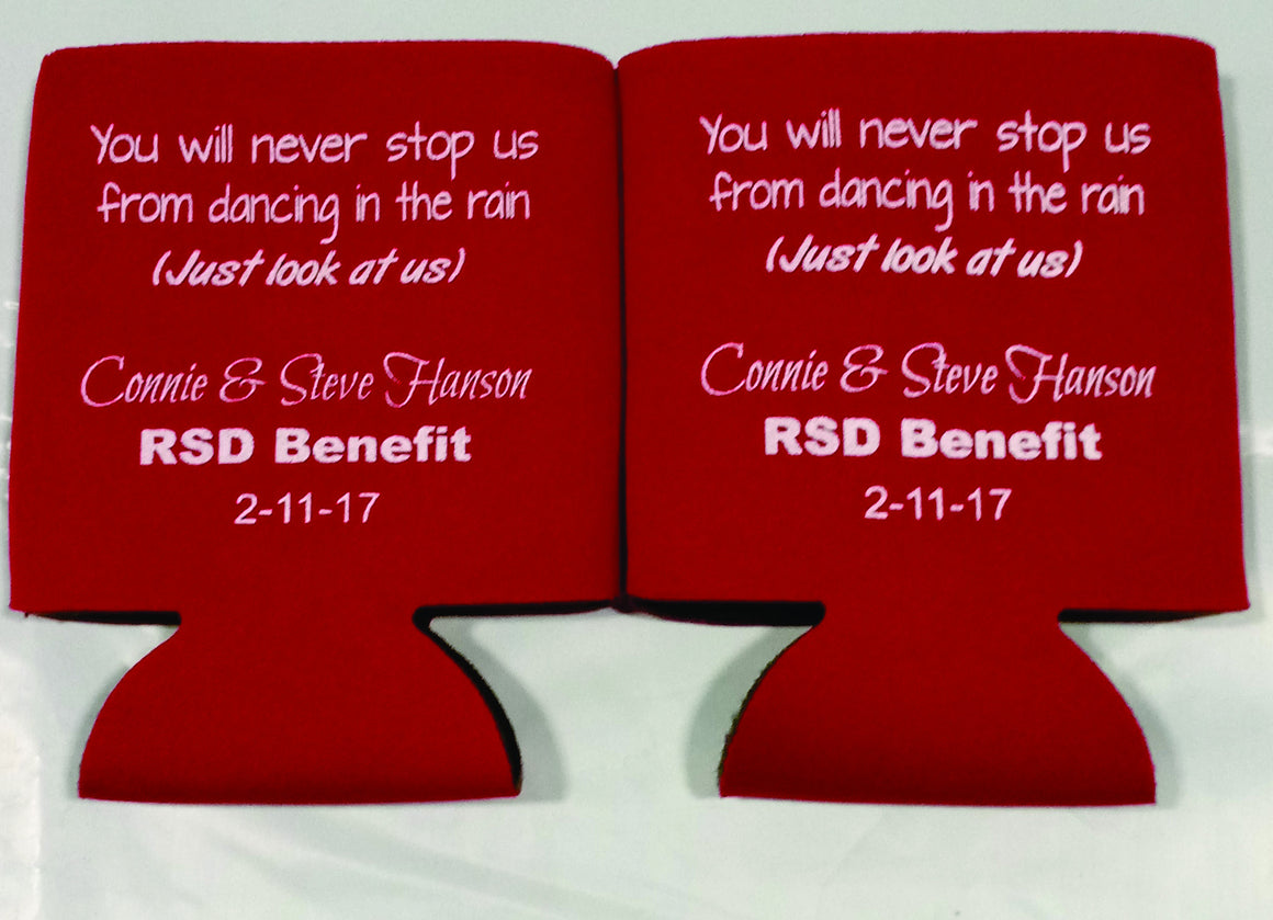 Custom Benefit Fundraiser Koozies can coolers