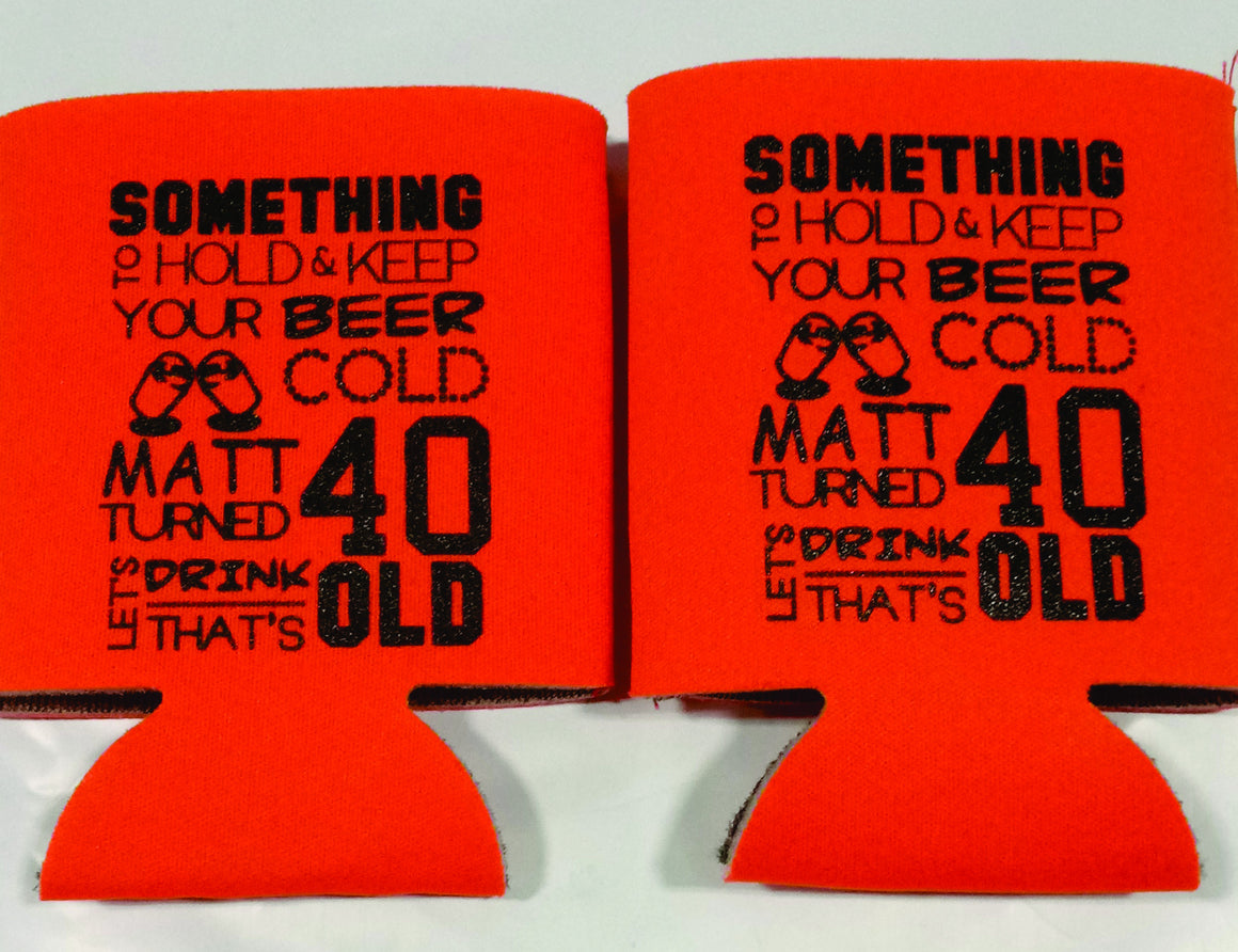 something to hold 40th Birthday party can coolers