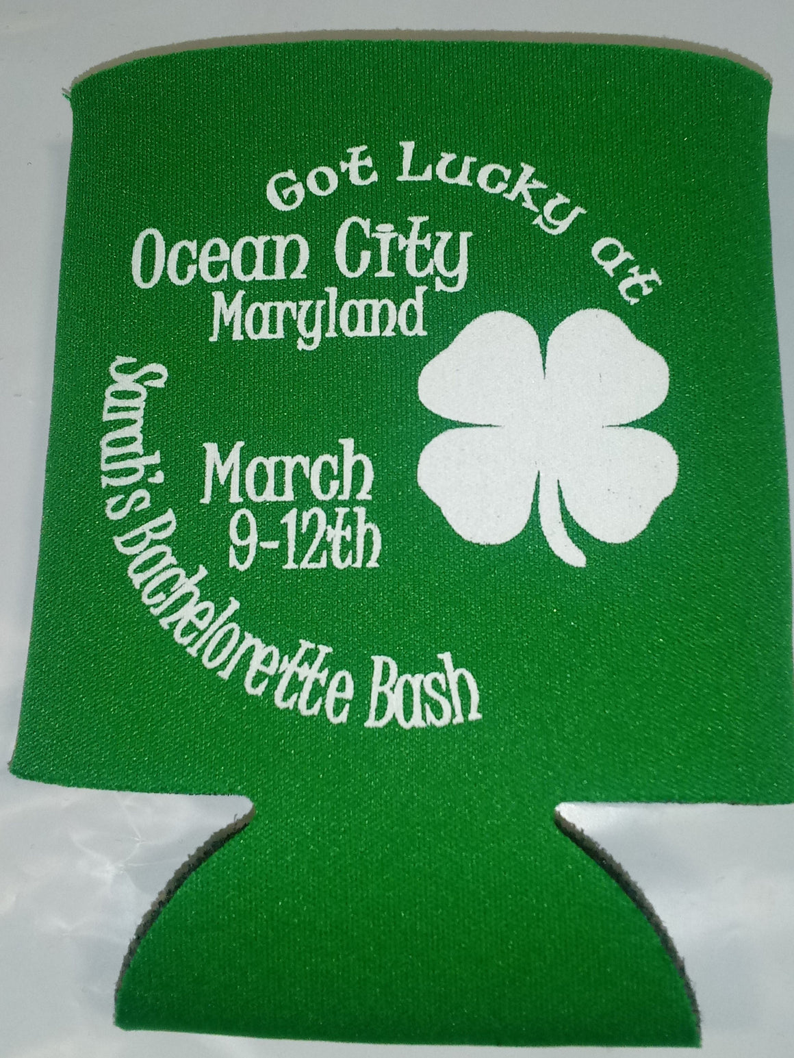 st patrick's theme bachelorette koozies party can coolers custom favors