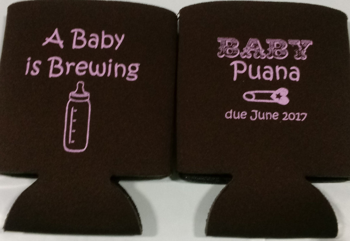 Baby is brewing Koozie bottle Can Coolers