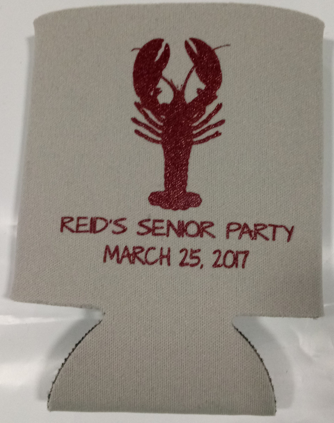 crawfish boil koozie senior party