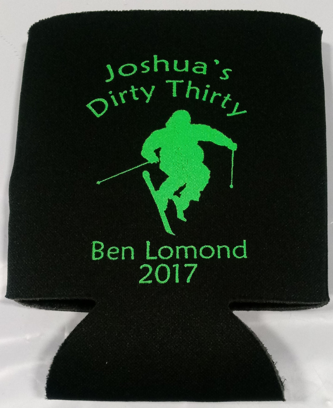 Dirty Thirty Ski trip Koozie personalized can coolers
