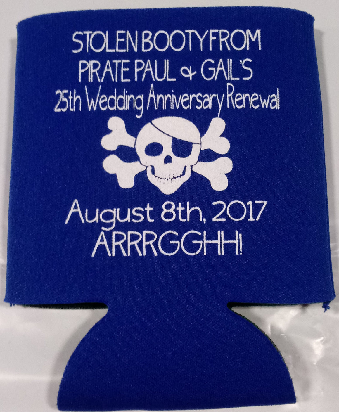 25th Wedding renewal Anniversary Koozies Can Coolers