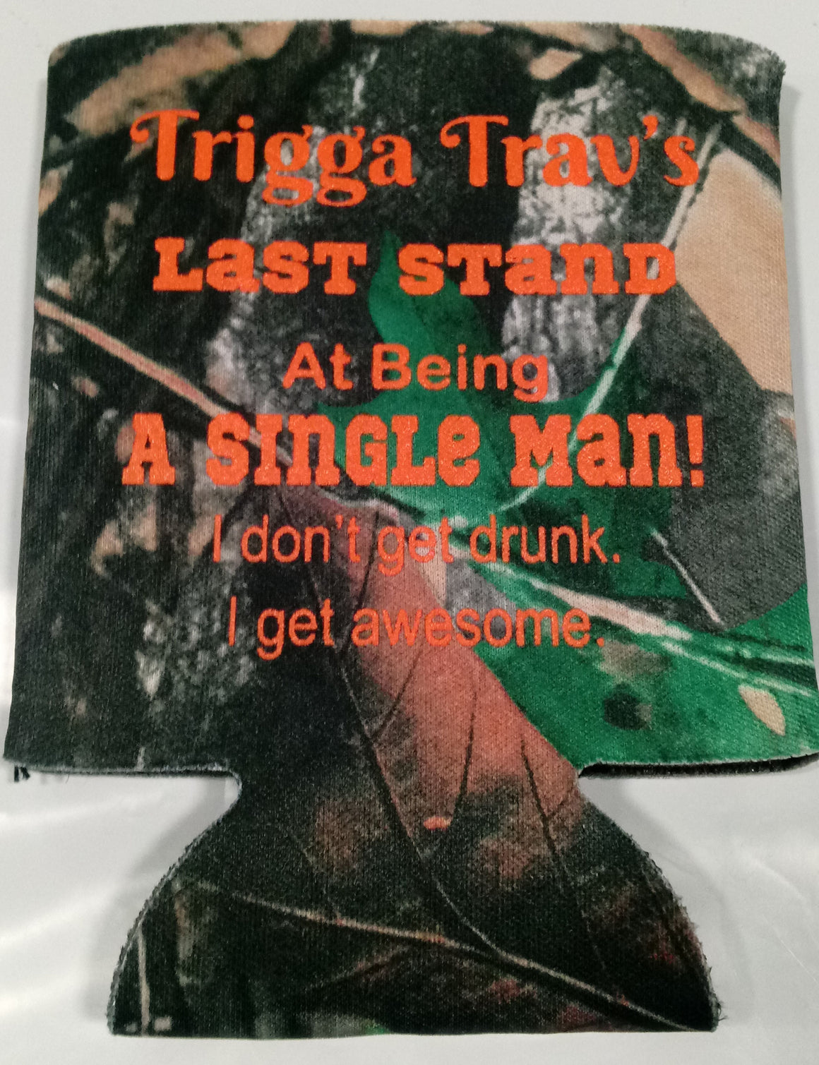 last stand at being a single man bachelor party koozie