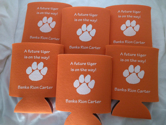 paw print baby shower party favors Can Coolers