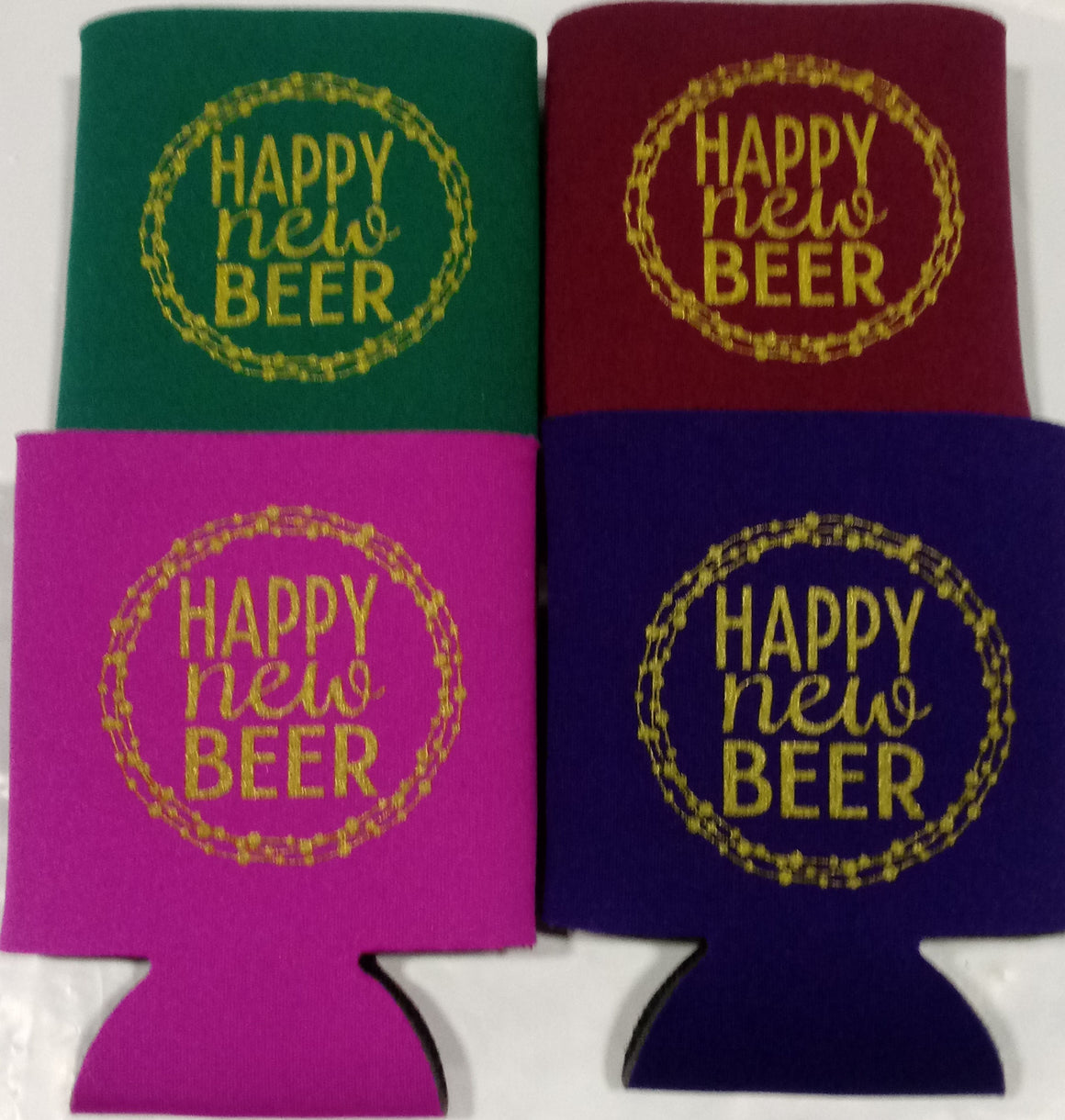 Happy New beer party favors can coolers new year idea