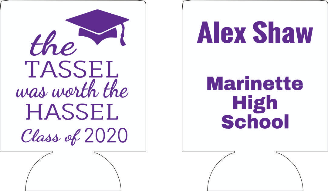 2020 high school graduation party koozie favors can coolers the tassel
