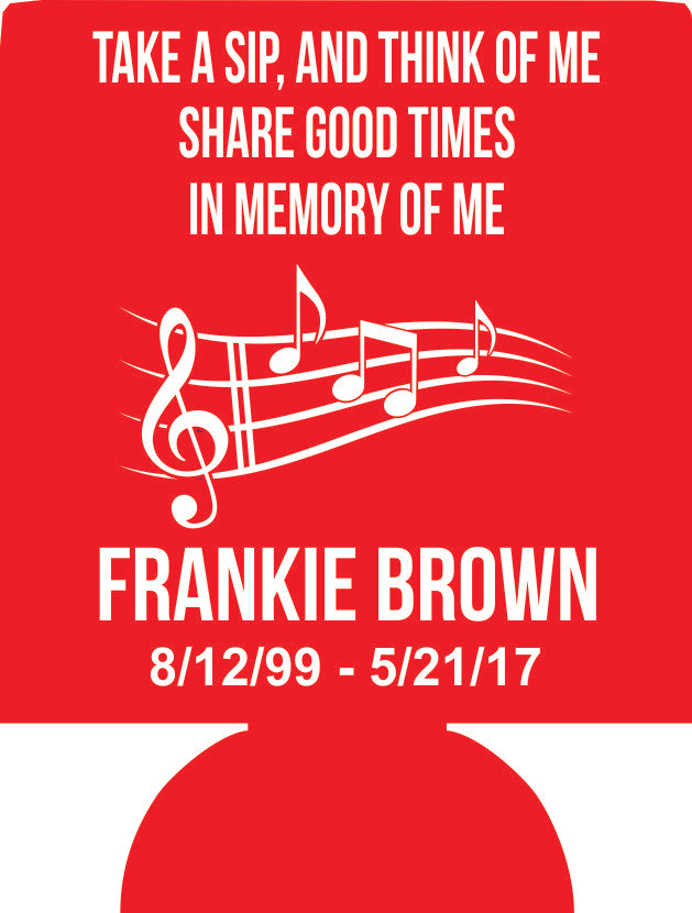 In memory of  personalized can coolers E08152017