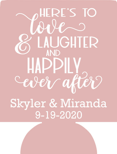 love and laughter Wedding party favors Can Coolers