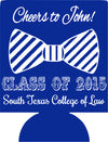 Cheers to bow tie law school graduation koozie party favors can coolers