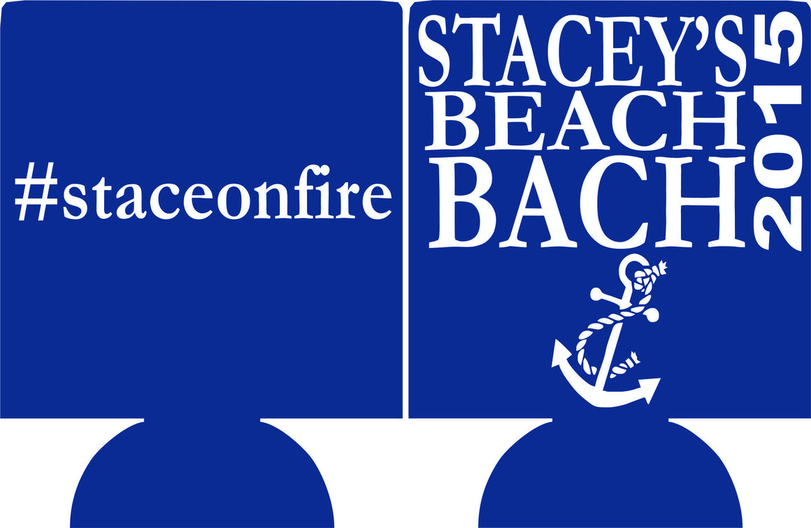 Nautical beach Bachelorette bash koozie can coolers