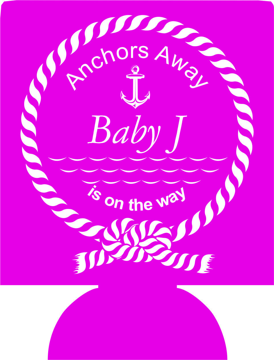 Anchors Away nautical can coolies baby shower