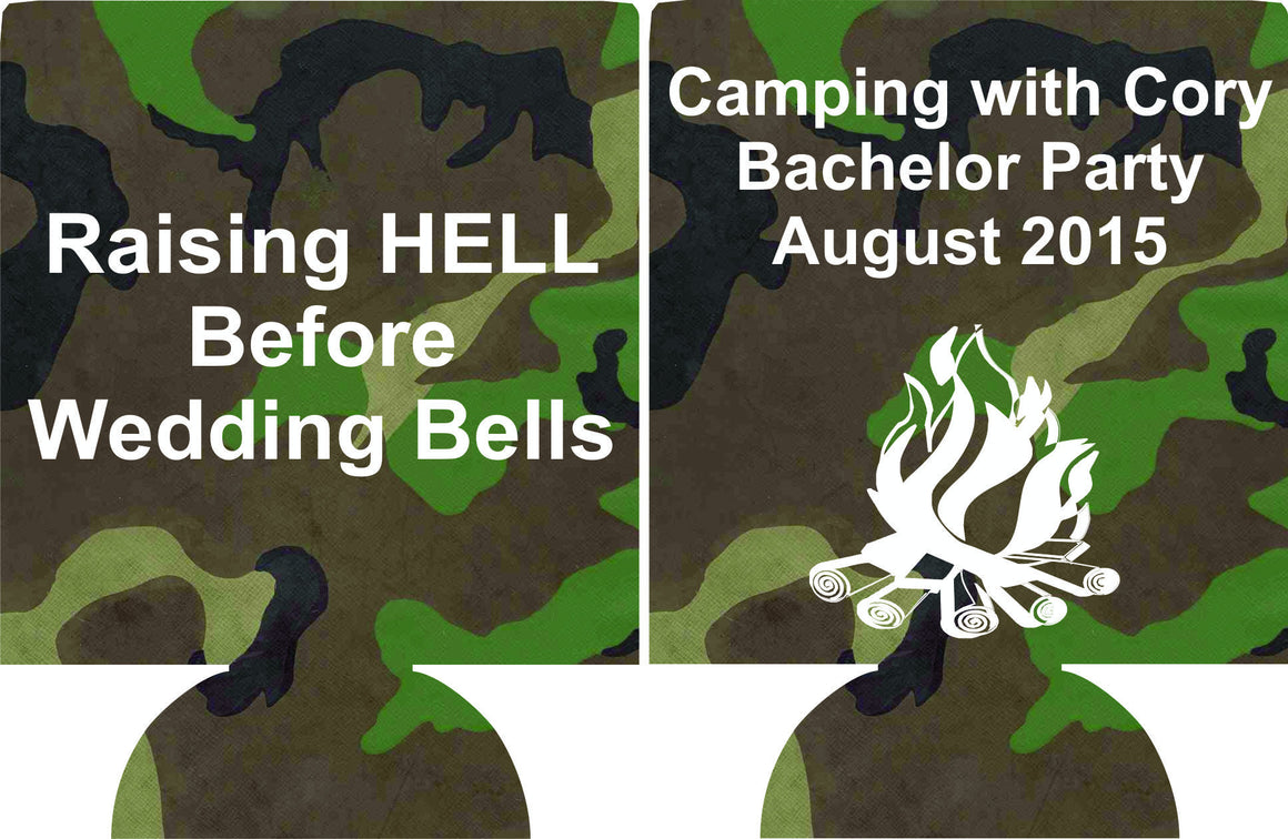 Camping Bachelor Party can coolies