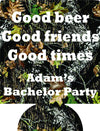 Good Times camo Bachelor party koozie