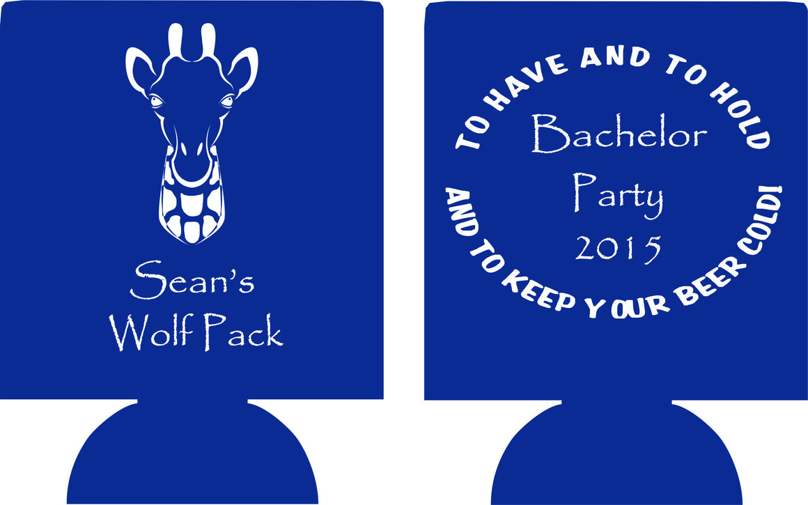 Wolf Pack Bachelor Party Koozies