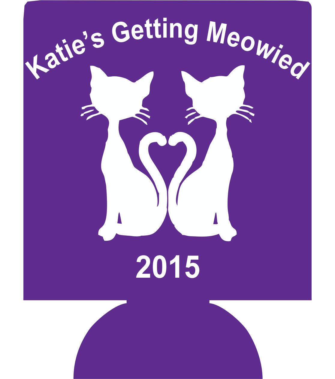 Getting Meowied Wedding koozies favors Can Coolers