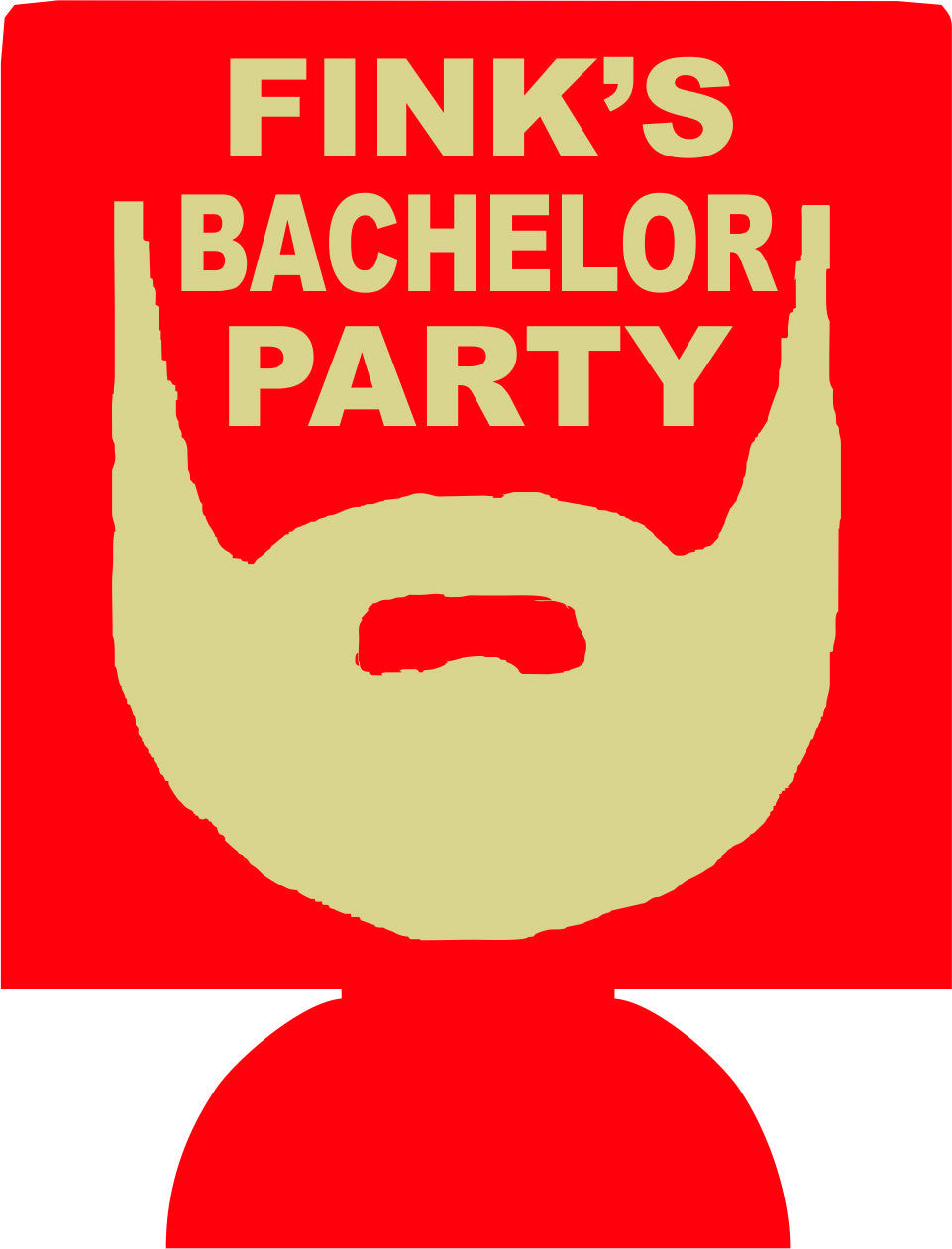 Beard Bachelor party koozie custom favors