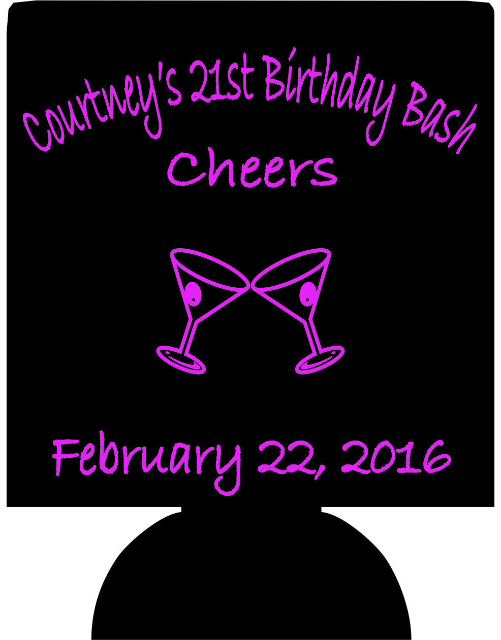 Cheers 21st Birthday bash Koozies ideas