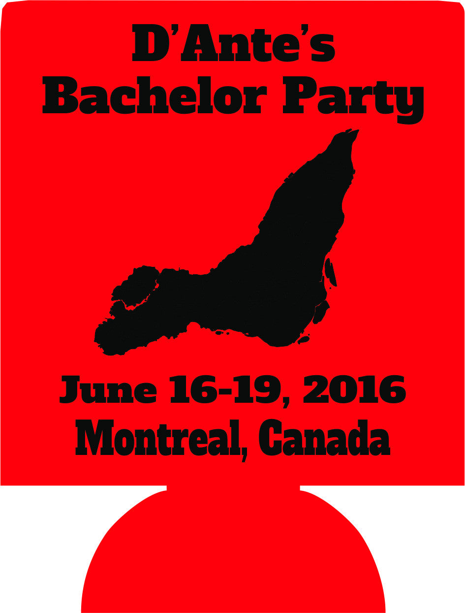 Montreal Canada Bachelor party Koozies custom Can Coolers