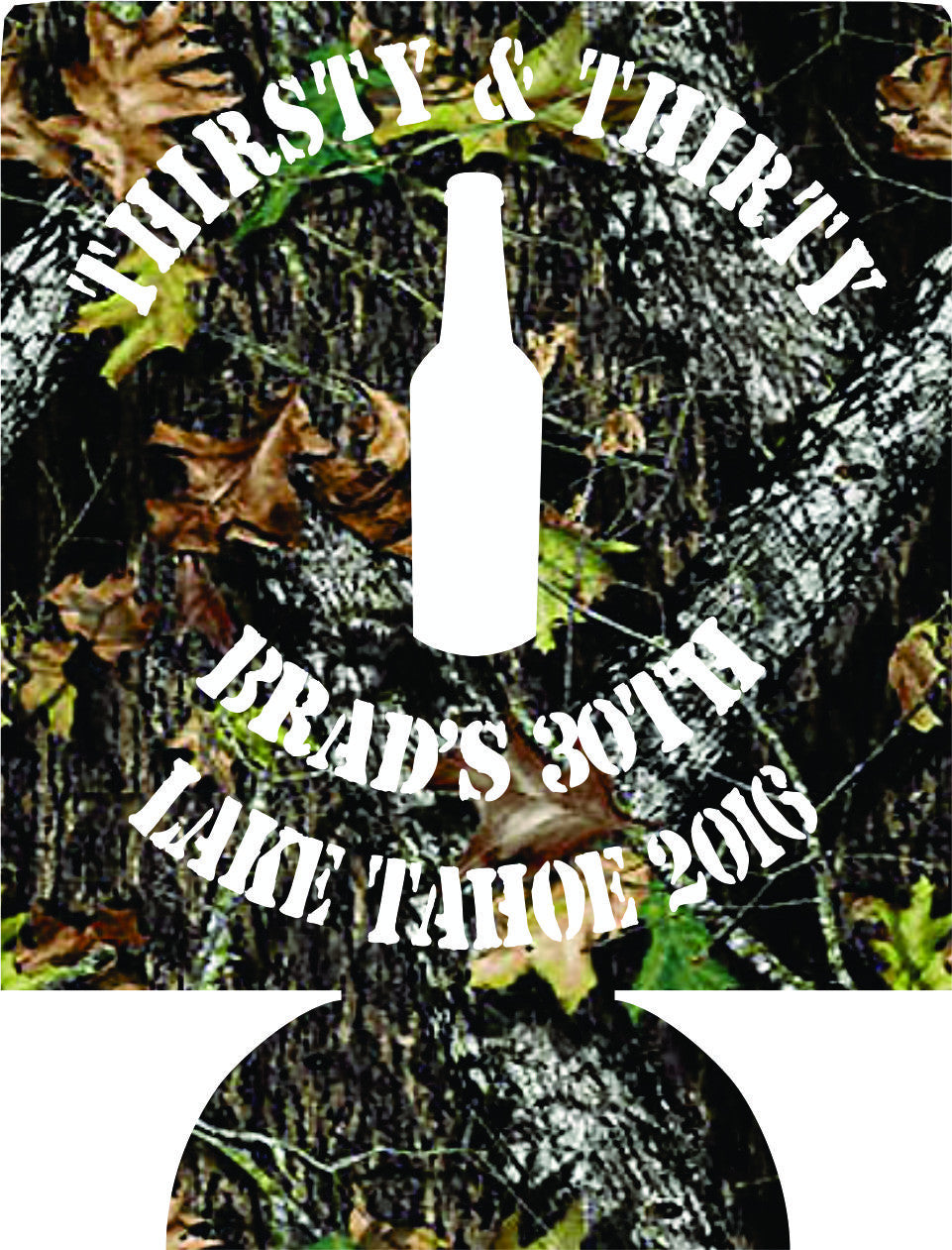 Camo Thirsty 30 Birthday Koozies party favors can coolers