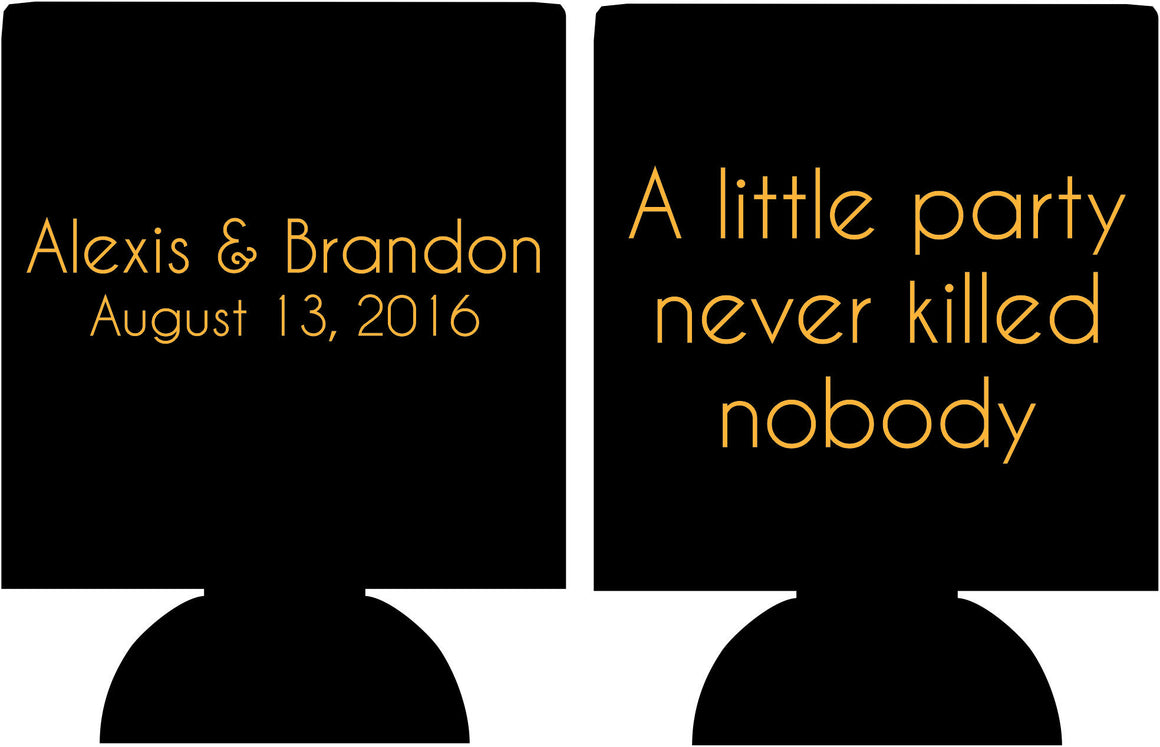 a little party never killed nobody gatsby Wedding koozies
