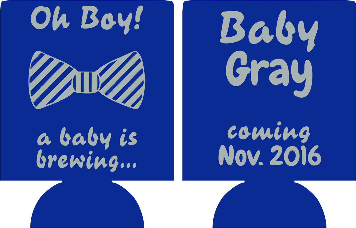 Baby is brewing coozies shower bow tie favors