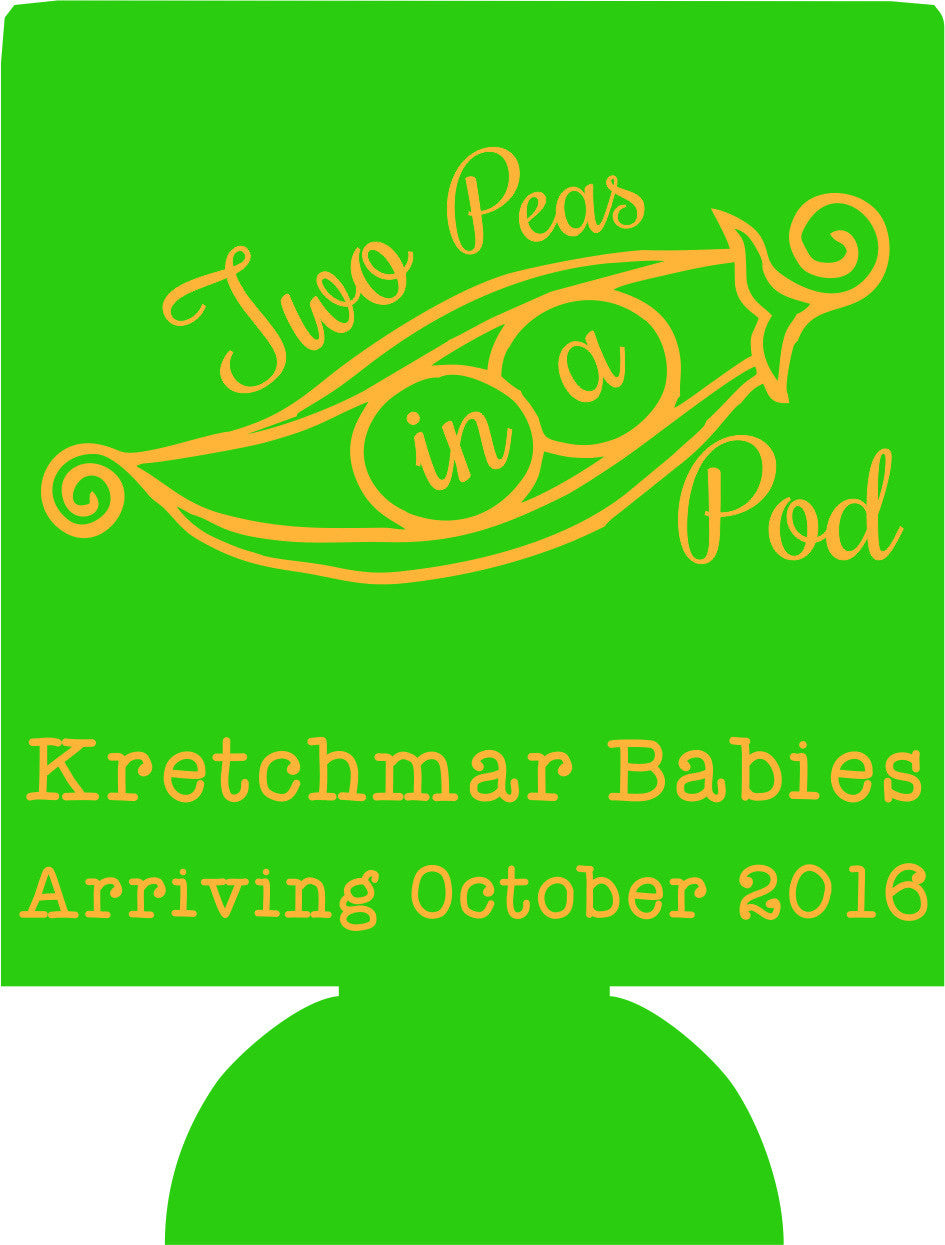 Twins Baby Shower favors two peas